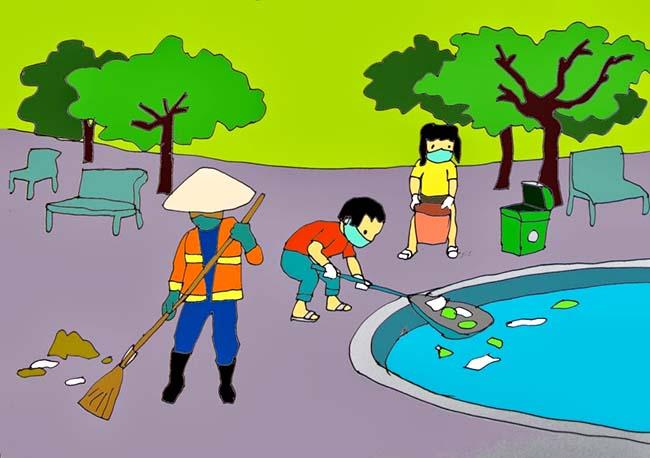 Vẽ tranh về bảo vệ môi trường nước