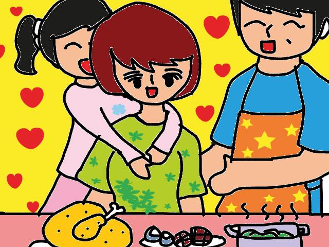 Vẽ tranh đề tài mẹ của em đang nấu cơm
