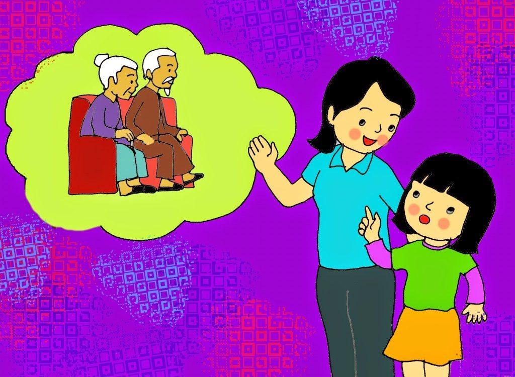 Vẽ tranh đề tài mẹ của em với thông điệp mỗi ngày con luôn được ở trong vòng tay Mẹ