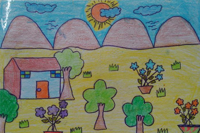 Vẽ ngôi nhà mơ ước của em đơn giản