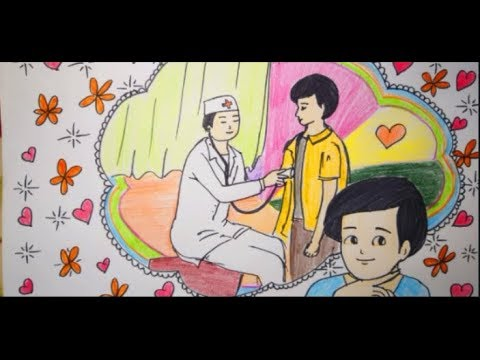 Vẽ tranh ước mơ của em làm bác sĩ