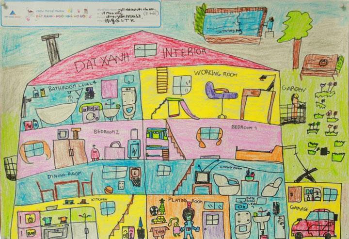 Vẽ ngôi nhà mơ ước của em cao tầng