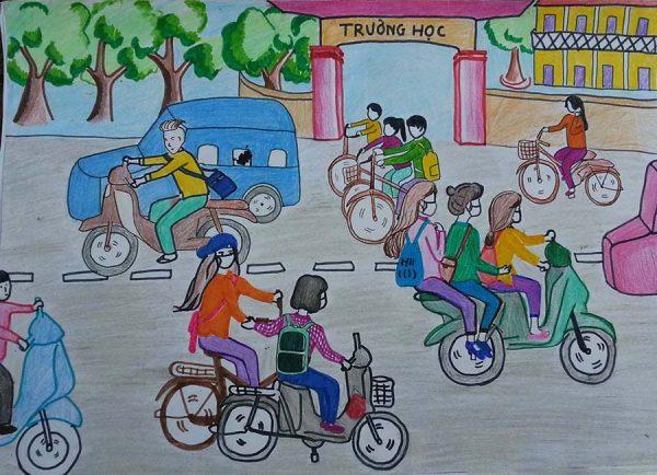 vẽ tranh an toàn giao thông