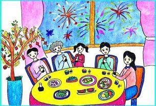 vẽ tranh gia đình