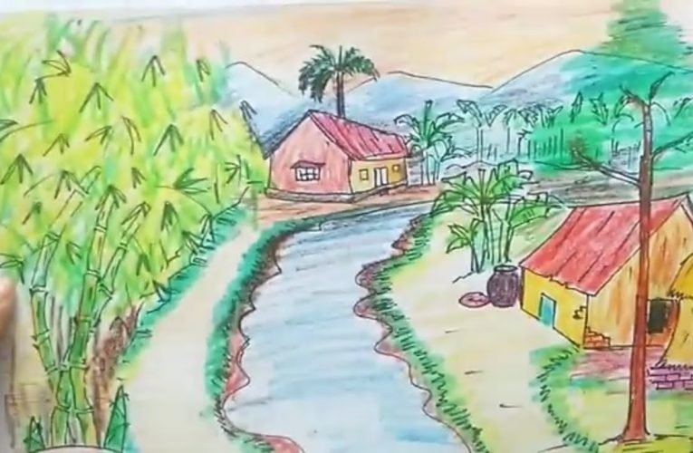 Đặc điểm và quy tắc khi vẽ tranh phong cảnh quê hương